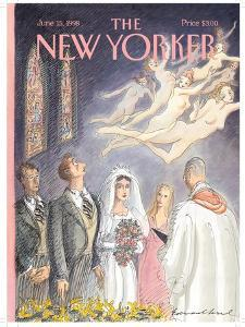 The New Yorker Cover - June 15, 1998 by Edward Sorel