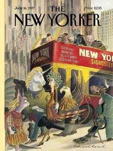The New Yorker Cover - June 16, 1997 by Edward Sorel
