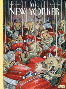 The New Yorker Cover - November 14, 1994 by Edward Sorel