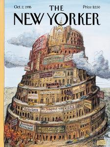 The New Yorker Cover - October 2, 1995 by Edward Sorel