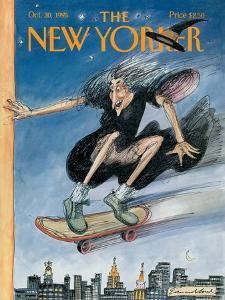 The New Yorker Cover - October 30, 1995 by Edward Sorel
