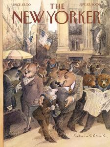The New Yorker Cover - September 25, 2000 by Edward Sorel