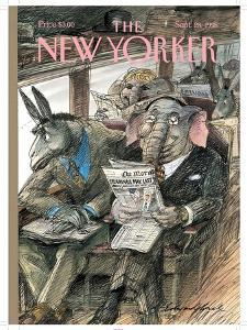 The New Yorker Cover - September 28, 1998 by Edward Sorel