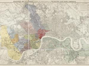 Map Of London by Edward Stanford