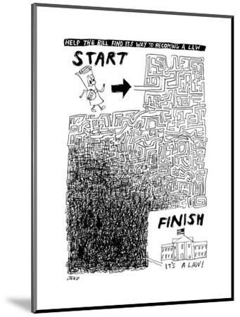 A diagram showing a tangled maze between a document and the US Capitol -- ... - New Yorker Cartoon by Edward Steed