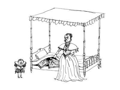 A Victorian mother finds her son's porn collection. - New Yorker Cartoon by Edward Steed