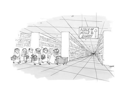 Aisle of Milk & Honey - New Yorker Cartoon by Edward Steed