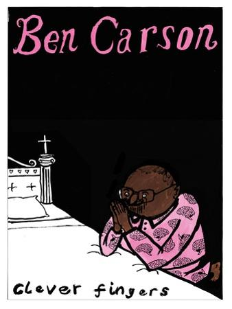 Ben Carson - Cartoon by Edward Steed