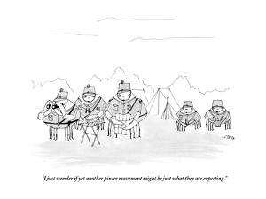 """""""I just wonder if yet another pincer movement might be just what they are ?"""" - New Yorker Cartoon by Edward Steed"""