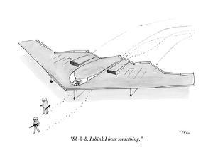 """Sh-h-h. I think I hear something."" - New Yorker Cartoon by Edward Steed"