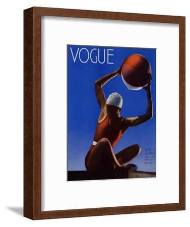 Vogue Cover - July 1932 - Red Beach Ball