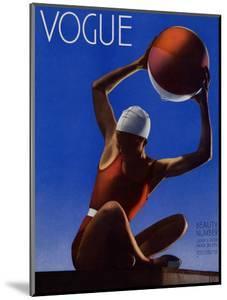 Vogue Cover - July 1932 - Red Beach Ball by Edward Steichen