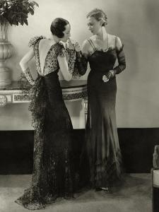 Vogue - January 1934 - Elaborate Evening Gowns by Edward Steichen