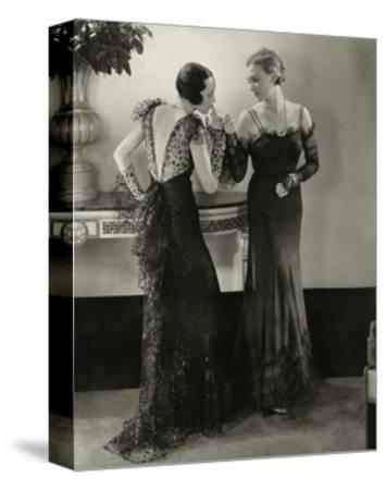 Vogue - January 1934 - Elaborate Evening Gowns