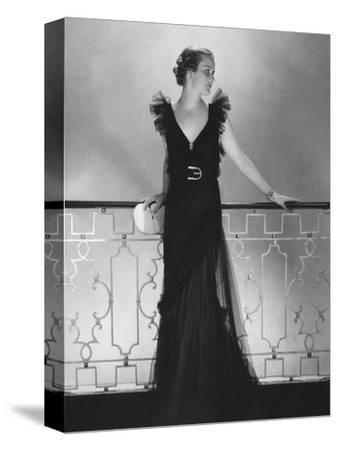 Vogue - July 1934 - Ruffled Black Dress by Lelong