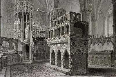 Edward the Confessor's Mausoleum, in the King's Chapel, Westminster Abbey, London, C1818-John Le Keux-Giclee Print