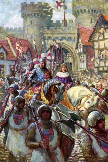 Edward V Rides into London with Duke Richard, 1483-Charles John De Lacy-Giclee Print