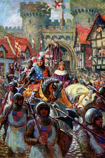 Edward V Rides into London with Duke Richard, 1483-CI De Lacy-Giclee Print