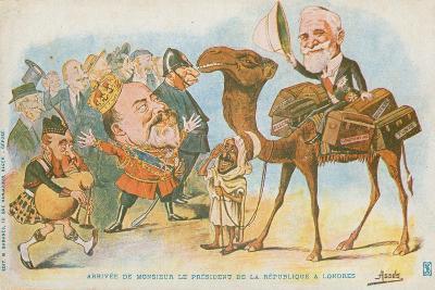Edward Vii, French President, Emile Loubet--Giclee Print
