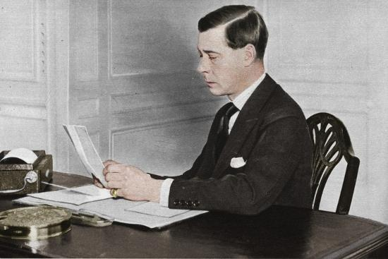'Edward VIII working in his office at St. James's Palace, London', 1936-Unknown-Photographic Print