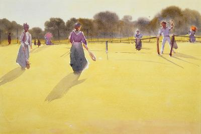 Edwardians at Tennis-Tom Simpson-Giclee Print