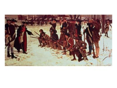 Baron Von Steuben Drilling American Recruits at Valley Forge in 1778, 1911