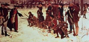 Baron Von Steuben Drilling American Recruits at Valley Forge in 1778, 1911 by Edwin Austin Abbey