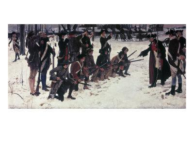 Baron Von Steuben Drilling Troops at Valley Forge