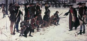 Baron Von Steuben Drilling Troops at Valley Forge by Edwin Austin Abbey