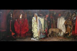 King Lear, Act 1 Scene 1 by Edwin Austin Abbey