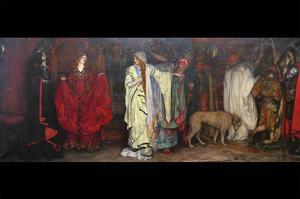 King Lear, Act 1 Scene 1 by Edwin Austin Abbey