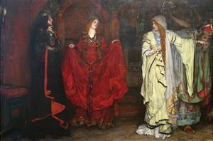 King Lear, Detail by Edwin Austin Abbey