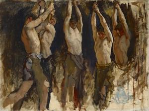 Men at an Anvil, Study for The Spirit of Vulcan, c.1904-8 by Edwin Austin Abbey