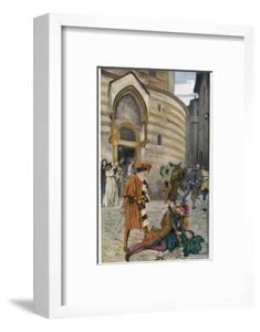 Romeo and Juliet, Act III Scene I, The Death of Mercutio Romeo's Friend by Edwin Austin Abbey
