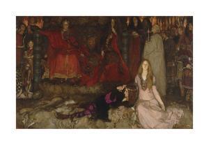 The Play Scene in Hamlet, Act III, Scene II by Edwin Austin Abbey