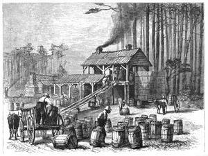 Turpentine Distillery, North Carolina, 1870 by Edwin Austin Abbey