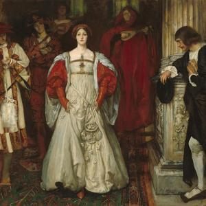 """""""Who Is Sylvia? What Is She, That All the Swains Commend Her?"""", c.1896-99 by Edwin Austin Abbey"""