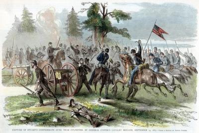 Capture of Confederate Guns, Near Culpeper, Virginia, American Civil War, 14 September 1863