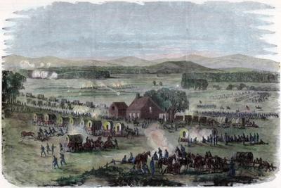 Night of the Battle Cedar Mountain, Culpeper County, Virginia, American Civil War, 9 August 1862