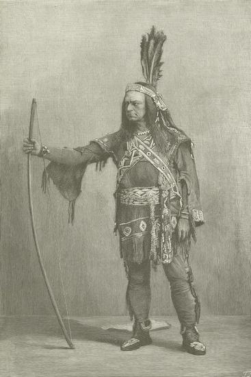 Edwin Forrest, American Actor, as Metamora--Giclee Print
