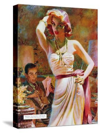 """She Wouldn't Believe Him - Saturday Evening Post """"Leading Ladies"""", October 1, 1955 pg.29"""