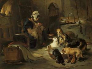 Highland Breakfast, c.1834 by Edwin Henry Landseer