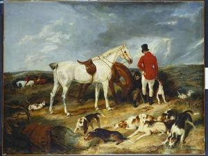 Hunters and Hounds, 1823 by Edwin Henry Landseer