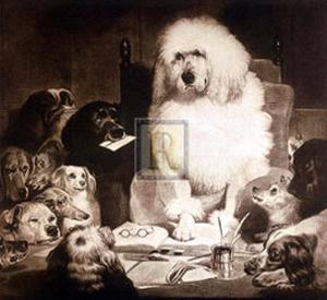 Laying Down the Law by Edwin Henry Landseer