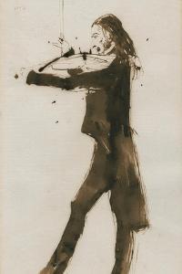 Portrait of Niccolò Paganini (1782-184), 1831 by Edwin Henry Landseer