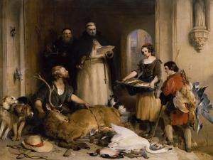 Scene in the Olden Time at Bolton Abbey, C.1834 by Edwin Henry Landseer