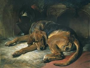 Sleeping Bloodhound by Edwin Henry Landseer