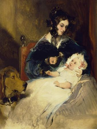 The Duchess of Abercorn and Child by Edwin Henry Landseer