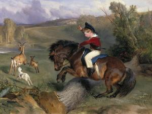 The First Leap: Lord Alexander Russell on His Pony 'Emerald', 1829 by Edwin Henry Landseer
