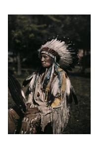 A Portrait of the Indian Red Tomahawk by Edwin L. Wisherd